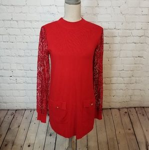 NWT Inc International Concepts Sweater Lace Dress